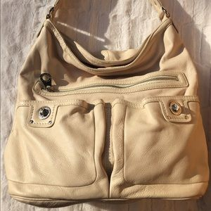 MBMJ Faridah Totally Turnlock cream leather hobo
