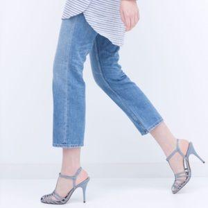 61f55a8fe20 Zara Shoes - ZARA T-Bar Heeled Sandals in Powder Blue