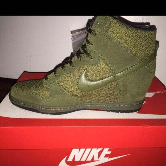 Hunter Green Nike Sneaker Wedges | Poshmark