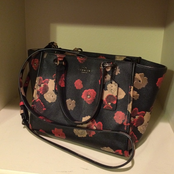 40% Off Coach Handbags - Coach Mini Floral Print Crossbody From Jennu0026#39;s Closet On Poshmark