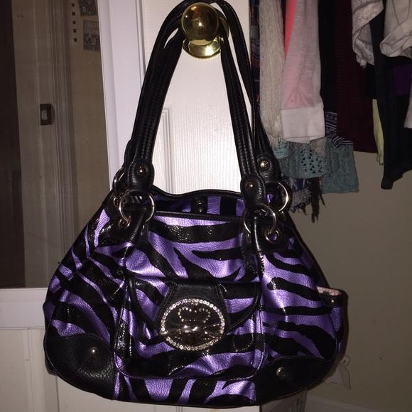 Kathy Van Zeeland Handbags - Kathy Van Zeeland Purple Zebra Print Handbag b5aee043b036a