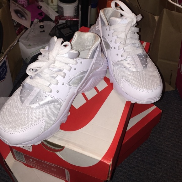 Nike White Huarache Gs From Karina S Closet On Poshmark
