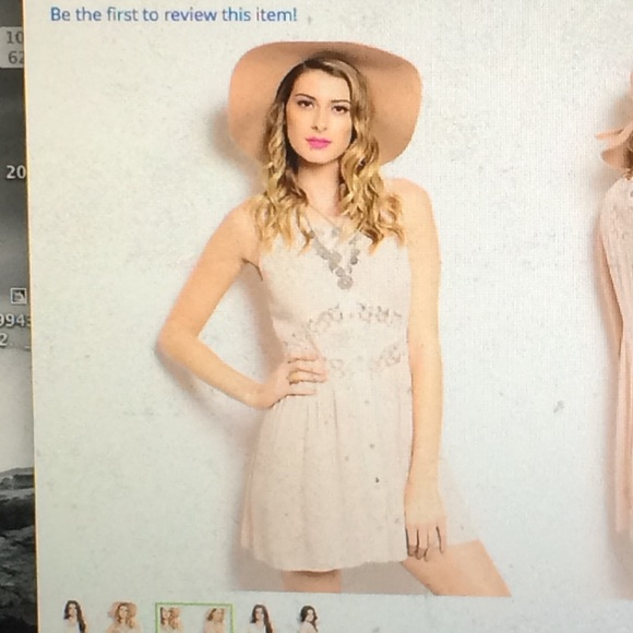 9d3ae5c63391c0 Pink Sleeveless Button Down Dress with Sheer Lace