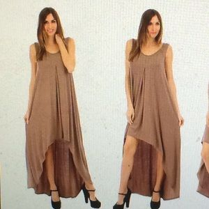 Dresses & Skirts - Toffee hi-low maxi dress (never worn)