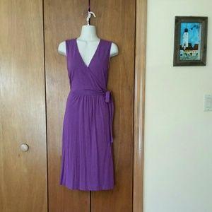 Dresses & Skirts - Faux wrap dress in purple