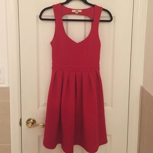 Adorable Red Dress With Cut Outs