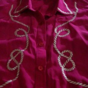Diane von Furstenberg silk blouse xl size 16