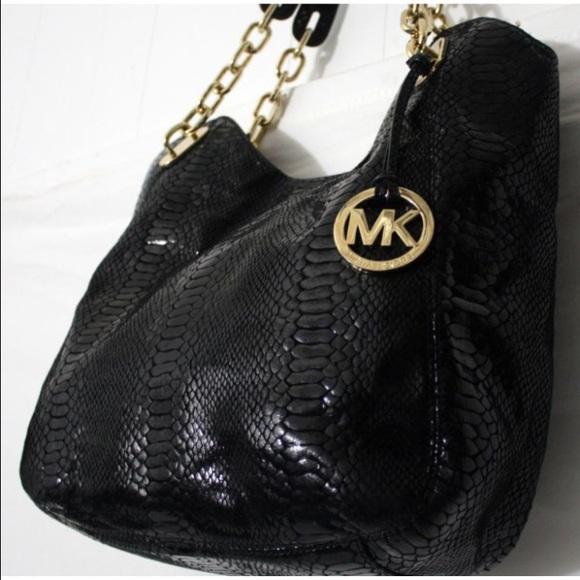 f2b3c16e1568 ... Michael Kors Bags - NWOT Michael Kors Python Bag! Black