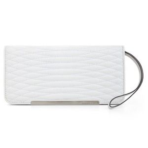 BCBGMAXAZRIA white tech wallet clutch