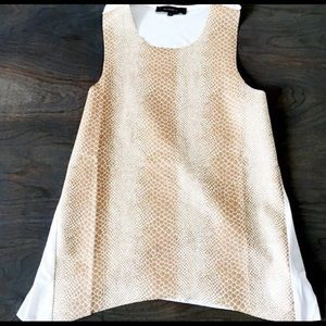 Gold leather snake skin tank with Cotten back