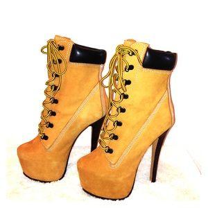 timberland high heels boots on poshmark. Black Bedroom Furniture Sets. Home Design Ideas