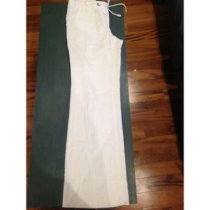 J. Crew wide-legged linen pants