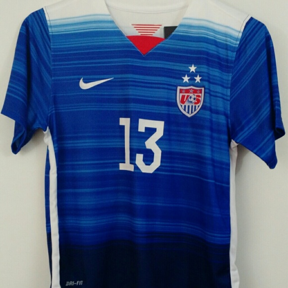 buy online 78dc2 e7422 Alex Morgan #13 USA Kid's Youth XL Kit NWT