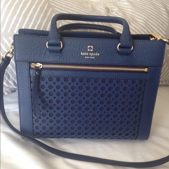 Last one- Kate spade navy blue bag 5e5cf5f5e6a71