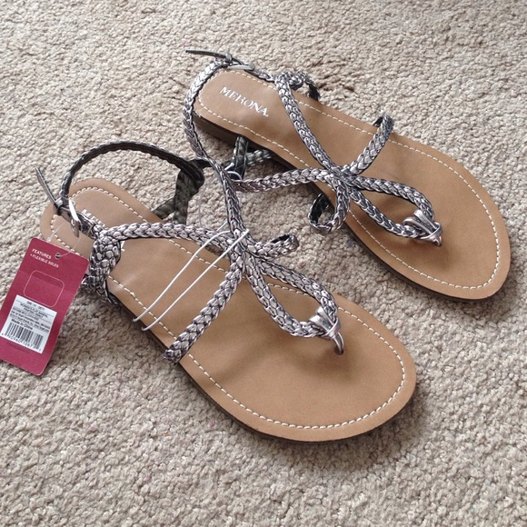 849b226269da95 Pewter Silver braided sandals