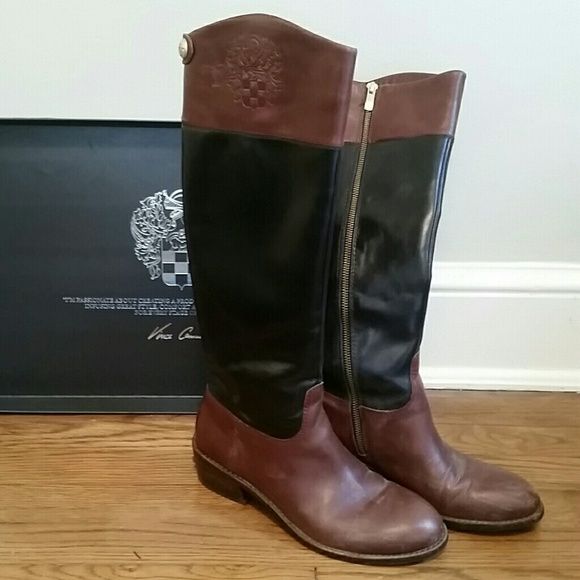 64 vince camuto boots black and brown boots