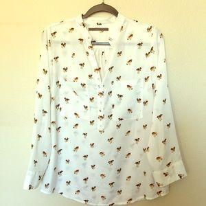 Tops - Puppy print tunic