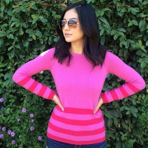Pink & Red Banana Republic Sweater