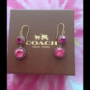 Coach Raspberries in Gold Earrings HOST PICK🎉