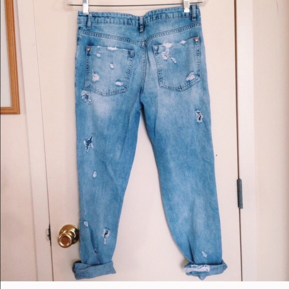 40 off zara pants zara ripped boyfriend jeans from. Black Bedroom Furniture Sets. Home Design Ideas