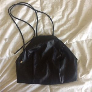 😈Vegan leather NastyGal halter top😈