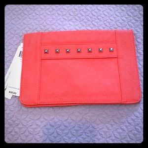 BCBGeneration coral clutch with studs
