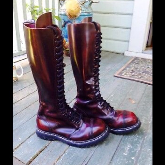 185dbba179003 SOLD!! TUK GRIPFAST 20 HOLE OXBLOOD LEATHER BOOTS NWT