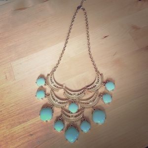 Francesca's Collections Accessories - Green and Gold Statement Necklace