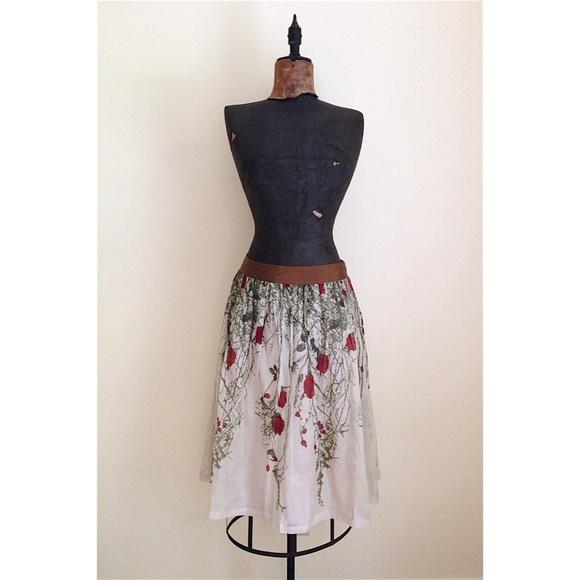 61f37ab7ba58 Anthropologie Dresses & Skirts - Anthropologie rose organza skirt