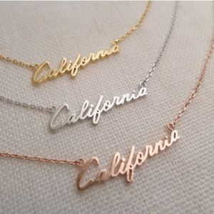 California Rose Gold Necklace