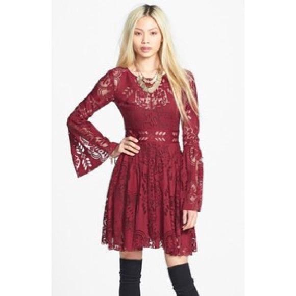 Burgundy Boho Dress