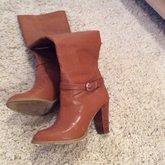 67 h m boots cognac stacked heel boots from s