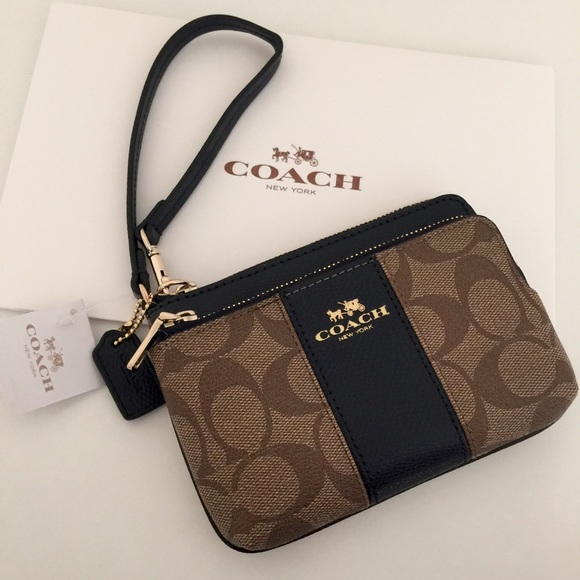 b801438ea234 Coach Double Zip Wristlet. Price Firm.