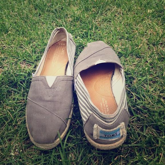 c30b1681c26 Dark grey stripe university women s classics. M 55a4425c9924621c61012608.  Other Shoes you may like. Toms