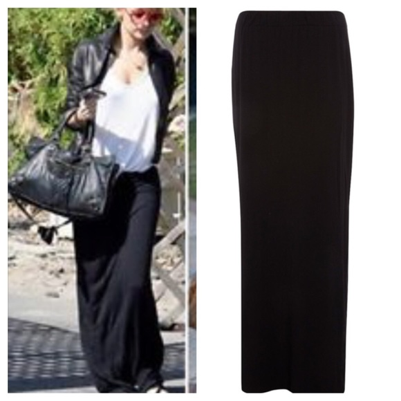 72% off Dresses & Skirts - Black straight maxi skirt ONE HOUR SALE ...