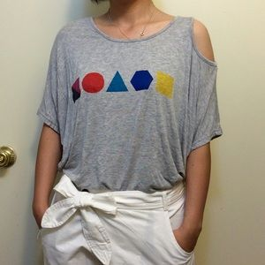 Asymmetrical gray Tee t shirt