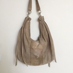MIU MIU Beige Suede Vintage Shoulder Bag