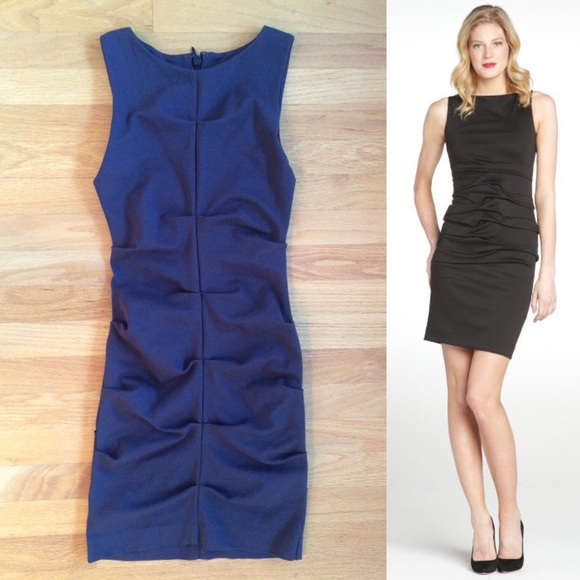 08011f6010 Nicole Miller Dresses | Ruched Sleeveless Black Sheath Dress | Poshmark