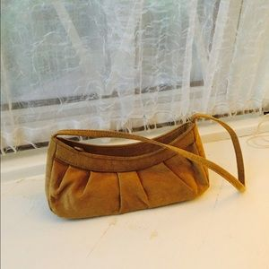 Handbags - Itsy Bitsy taupe suede clutch