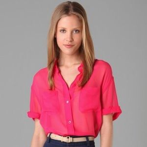 Equipment Silk Short Sleeve Shirt