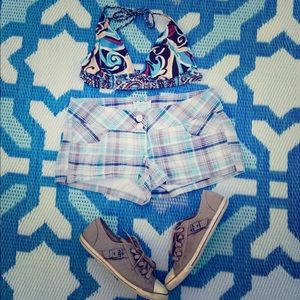 Anchor Blue Pants - Plaid shorts - Make Offer!