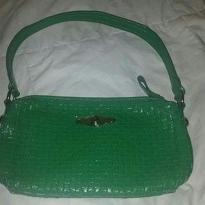 Elliott Lucca Handbags - Elliott Lucca green genuine leather bag