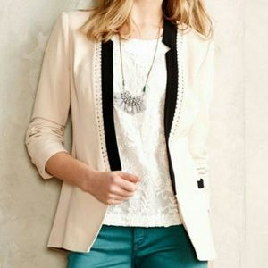 NWT Anthropologie Dera Lasercut Blazer