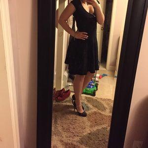 OASIS perfect black flowy dress XS so cute !