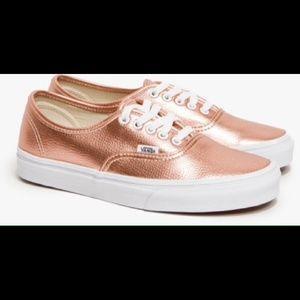 Vans Rose Gold Shoes