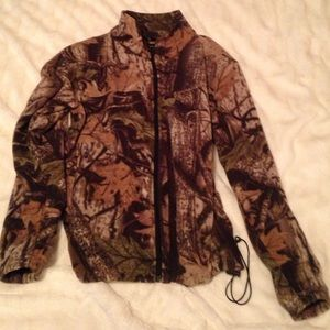 Fleece Camo Zip-up