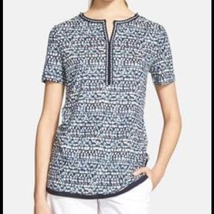 Tory Burch Linen Embellished Tunic.