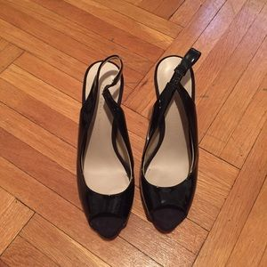Zara Shoes - Patent leather peep toe pumps