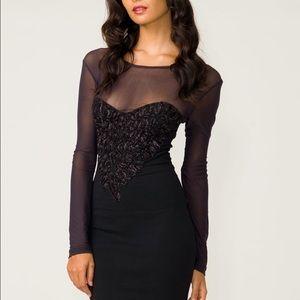 Motel Rocks Dresses & Skirts - Motel Rocks-Embellished Heart Mini Dress (size xs)