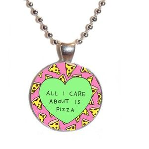 Tumblr pizza necklace